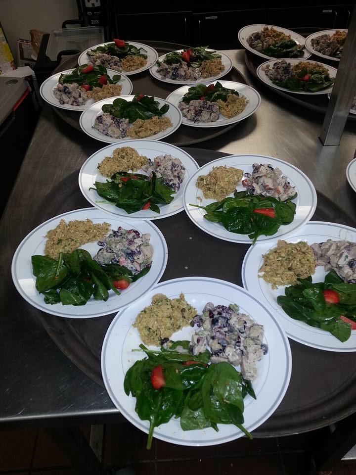 fixed plates at a catering event
