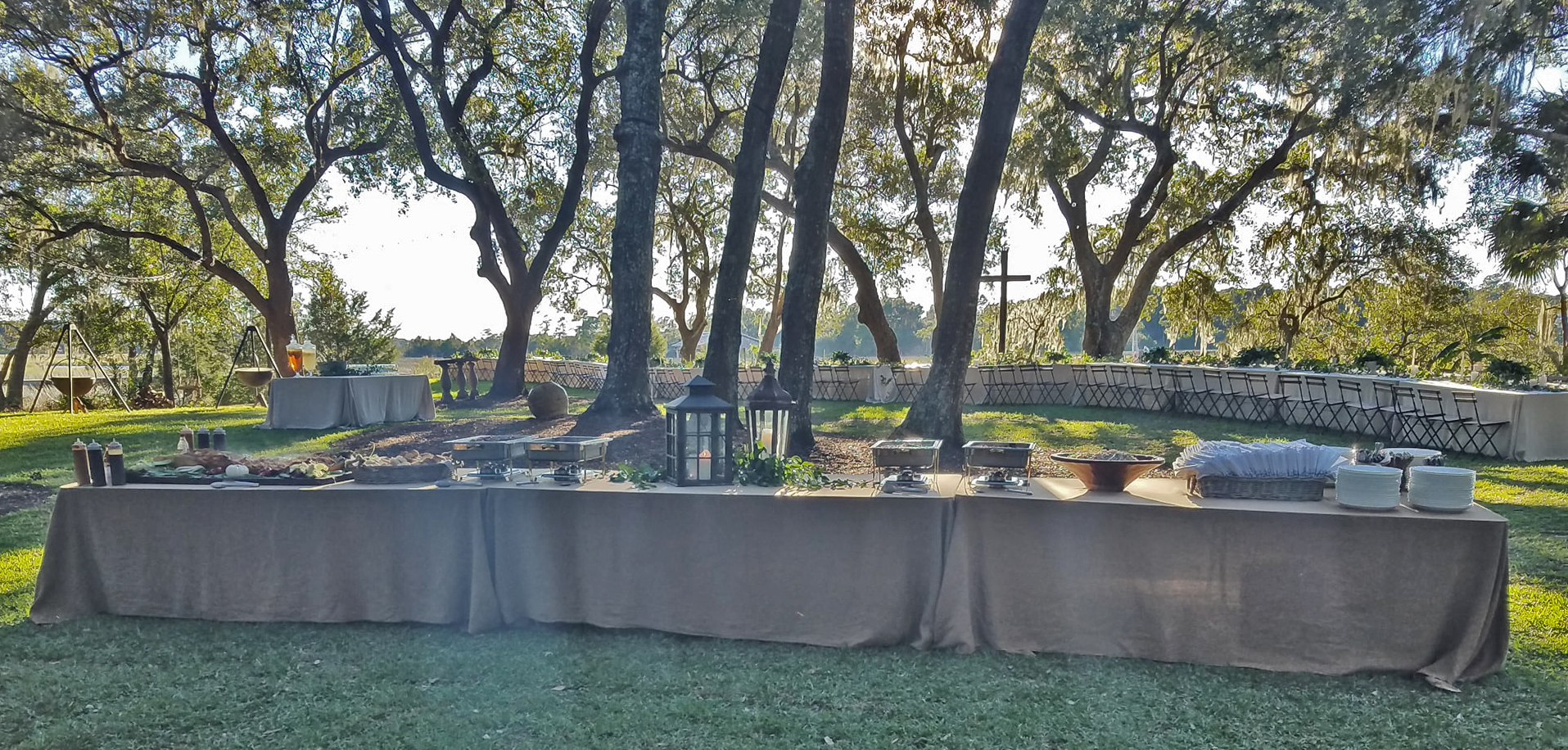catering set up outside in charleston sc